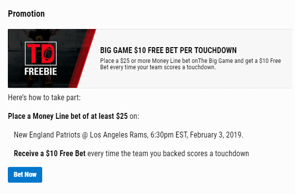 BetStars Super Bowl Promotions