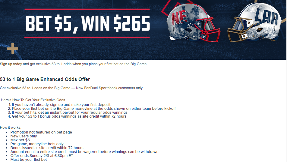 FanDuel Super Bowl Promotion